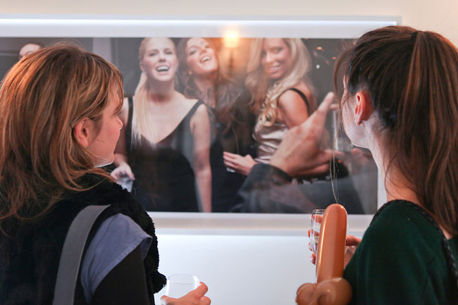 Meta-moment: a picture of a picture of a picture being taken. Monika Sziladi's Untitled (Smile).